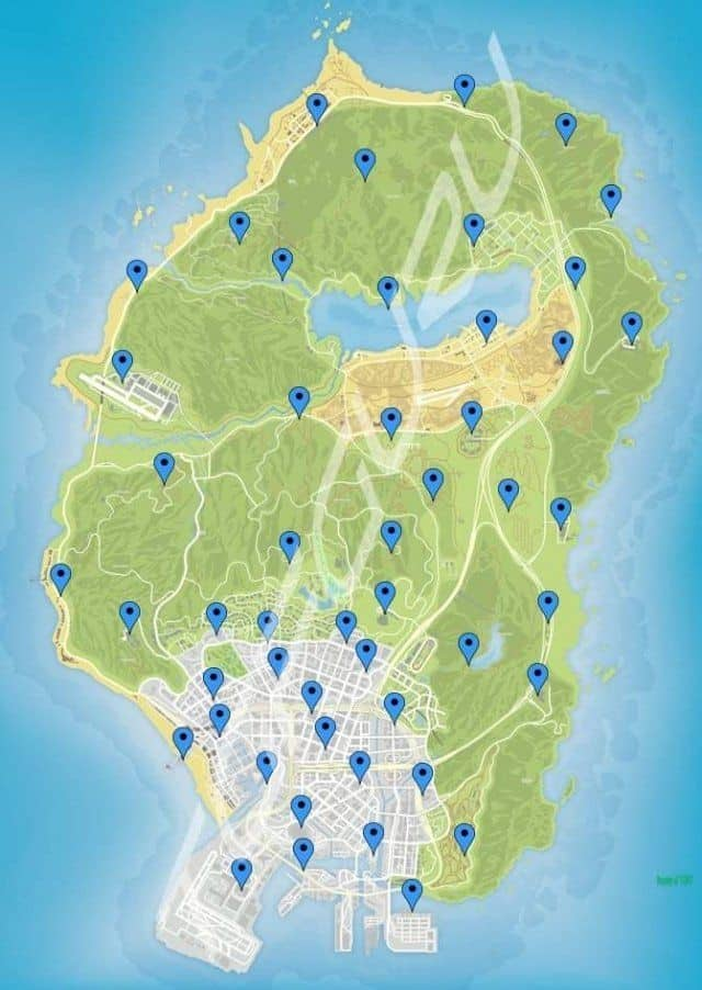 location of signal jammers in gta v